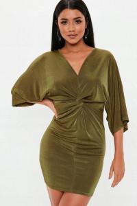 Sukienka skręcana mini błyszcząca rozmiar S