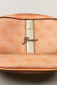 Kosmetyczka Guess Logowana Pomarańczowa Logo...