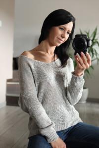Sweter bawełniany oversize szary...