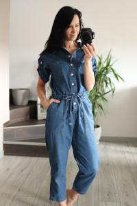 Kombinezon jeansowy oversize