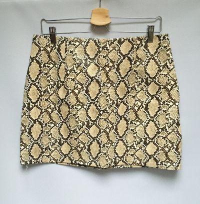 Spódnice Spódniczka Boohoo XL 42 Skóra Węża Skórzana Midi