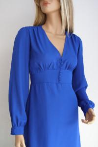 sukienka Rayo 40 L guziki bufki zwiewna elegancka Vintage...