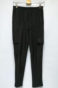 Spodnie Czarne Prążkowane Bojówki Gina Tricot S 36 Rurki...