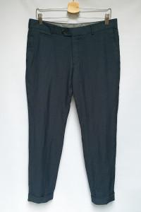 Spodnie Wizytowe Eleganckie Turo Granatowe Kropki Slim Fit 50...