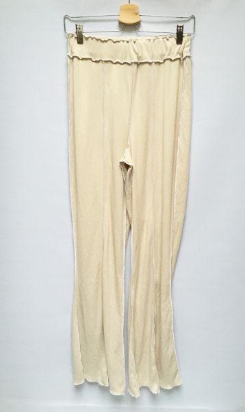 Spodnie Spodnie Rozszerzane Nogawki Beżowe Beż Boohoo L 40