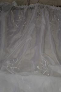 Firanka wyszywana woal 400x170 cm