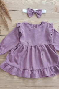 Śliczna sukienka dla dziewczynki z falbanką 86 92