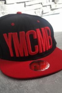 YMCMB Snapback Czapka czarno czerwona...