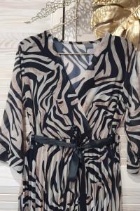 Włoska sukienka premium w zebrę...