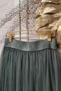 Włoska spódnica tiulowa khaki Wyprzedaż...