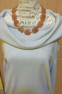 Jasno szary golf sweter sweterek F&F r 46...