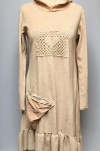 Sukienka Welurowa Różowa Hyertet No S 36 Dresowa Kaptur...