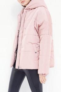 kurtka ciepła pudrowo różowa puchowa parka...