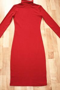 Bordowa sukienka L XL nowa...