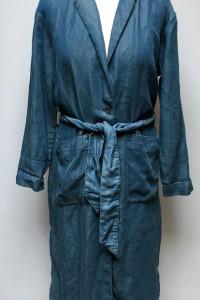 Płaszcz Dzinsowy Jeansowy H&M Conscious XS 34 Niebieski...