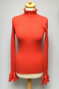 Sweter Golf Gina Tricot M 38 Czerwony Prążkowany...