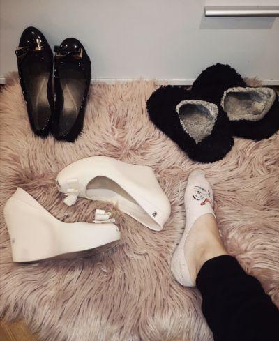 Eleganckie Używane buty fetysz balerinki kapcie trampki dla fetyszysty zapach