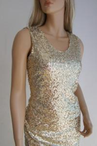 Sukienka cekiny 40 L święta sylwester wesele złota...