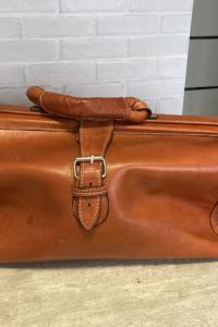 vintage torba skórzana skóra
