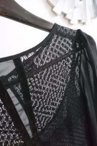 BY O Lala koronkowa sukienka czarna cudo M...