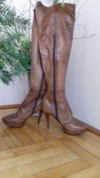 Kozaki Sexi kozaki za kolano ze skóry Prima Moda rozm 36