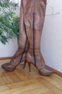 Sexi kozaki za kolano ze skóry Prima Moda rozm 36...