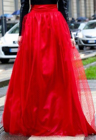 Pozostałe Zestaw tkanin tiul okazja czerwony w kropeczki zestaw do spódnicy