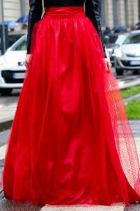 Zestaw tkanin tiul okazja czerwony w kropeczki zestaw do spódnicy