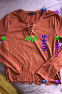 nowa bluzka prążkowana z wiązaniem
