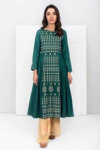 Nowa indyjska tunika sukienka S 36 M 38 zielona butelkowa ziele...