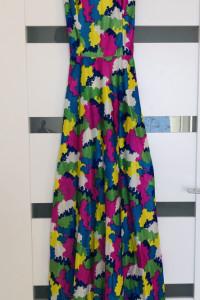 Sukienka kolorowa maxi xs 34