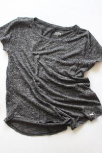 szara bawełniana koszulka hollister xs