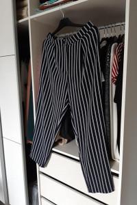 H&M nowe szerokie spodnie w paski...