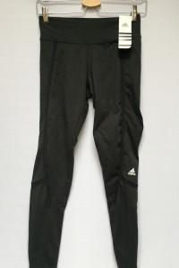 Legginsy Czarne Adidas Climalite S 36 Spodnie...