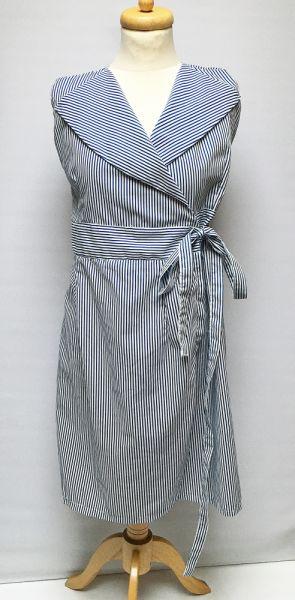 Suknie i sukienki Sukienka Pasy Kopertowa M 38 Marynarska Paseczki