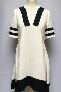 Sukienka Biała Czarne Wstawki H&M S 36 Elegancka...