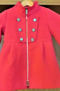 Śliczny czerwony płaszczyk dla dziewczynki Reserved r 104 jesień zima