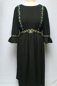 Sukienka Czarna Boohoo Long M 38 Rozkloszowana...