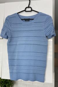 Reserved błękitny sweterkowy top baby blue rozmiar M...