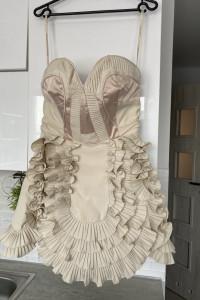 Karen Millen sukienka gorsetowa nude falbanki wesele tiul asos...