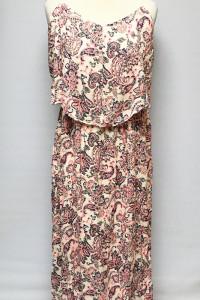 Sukienka NOWA Maxi Long Wzory XXL 44 Róż Boho...
