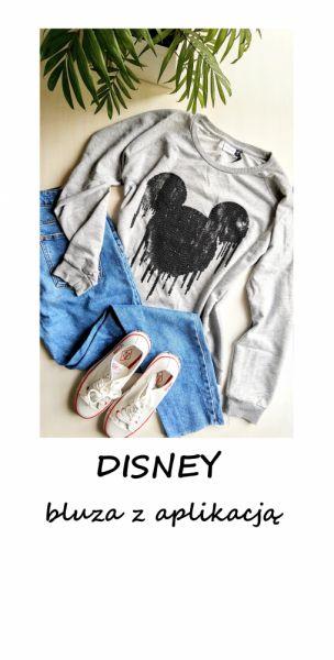 Bluzy Szara bluza Disney oversize S M L XL myszka miki