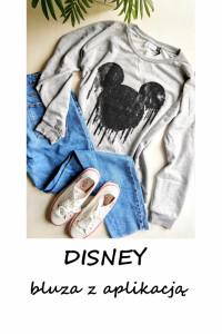 Szara bluza Disney oversize S M L XL myszka miki...