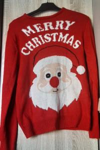 Primark ciepły czerwony sweter świąteczny S...