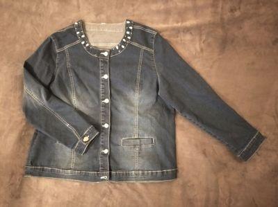 Odzież wierzchnia Jeansowa kurtka M