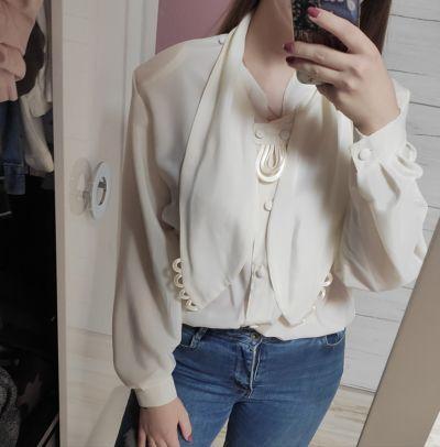 Koszule Kremowa koszula Vintage modna