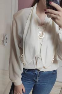 Kremowa koszula Vintage modna...