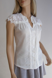 bluzka koszula Vintage koronka haft M...