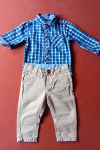 Elegancki komplet spodnie i koszulobody