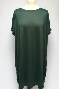 Sukienka Tunika H&M Plus XL 42 Zielona Zgniła Zieleń Oversize